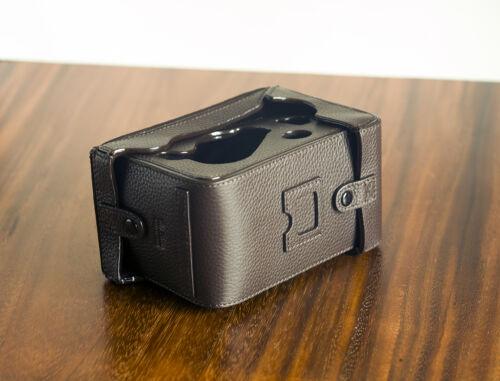 ZHOU Marrón Cuero Funda Protectora Completa Para Rolleiflex 2.8 F 3.5 F lente de dos cámaras reflex Mr