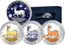 Gabun 2012 Silver Investment Coin Prestige Set Springbock 4 x 1 oz Silber RAR!