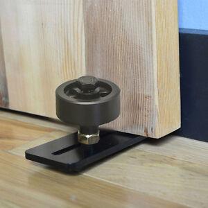 Adjustable Black Wheel Floor Guide For Sliding Barn Door ...