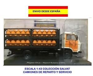 CAMION-DE-REPARTO-SALVAT-1-43-PEGASO-EKUS-REPSOL-BUTANO-1988-COLECCIoN-MAQUETAS