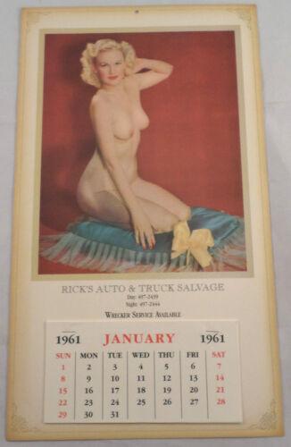 Rick/'S Auto And Truck Salvage Calendar Nude Girl Advertising Ephemera