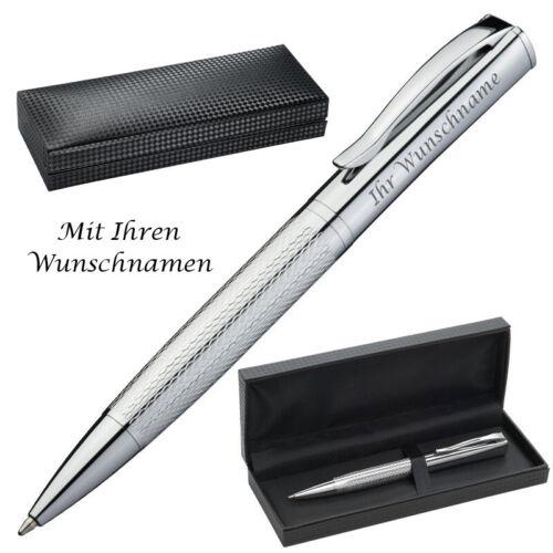 in einer Geschenkbox aus Metall Kugelschreiber mit Gravur