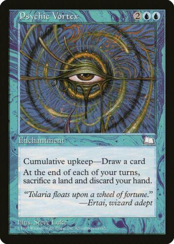 Psychic Vortex Weatherlight PLD Blue Rare MAGIC THE GATHERING CARD ABUGames