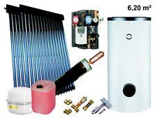 Solaranlage Komplettpaket Warmwasser Röhrenkollektor Solarspeicher 300L 6,2qm