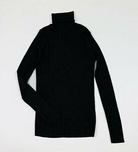 Nylon-maglia-dolcevita-lupetto-nero-S-donna-usato-sottogiacca-lucido-T5646