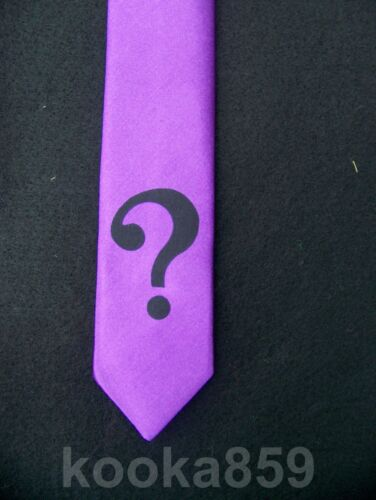 "RIDDLER COSTUME 2/"" QUESTION MARK SYMBOL Arkham Asylum iron on tie patch Batman"