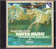 HANDEL Wassermusik Water Music TREVOR PINNOCK Archiv CD The English Concert