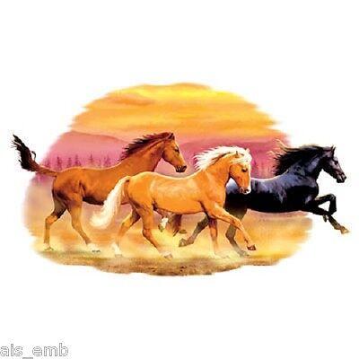 Wild Horse Pattern HEAT PRESS TRANSFER for T Shirt Tote Sweatshirt Fabric #242h