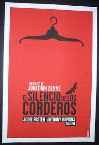 5-Day-Sale-SILENCE-OF-THE-LAMBS-Signed-Cuban-Silkcreen-Movie-Tribute-Poster-CUBA