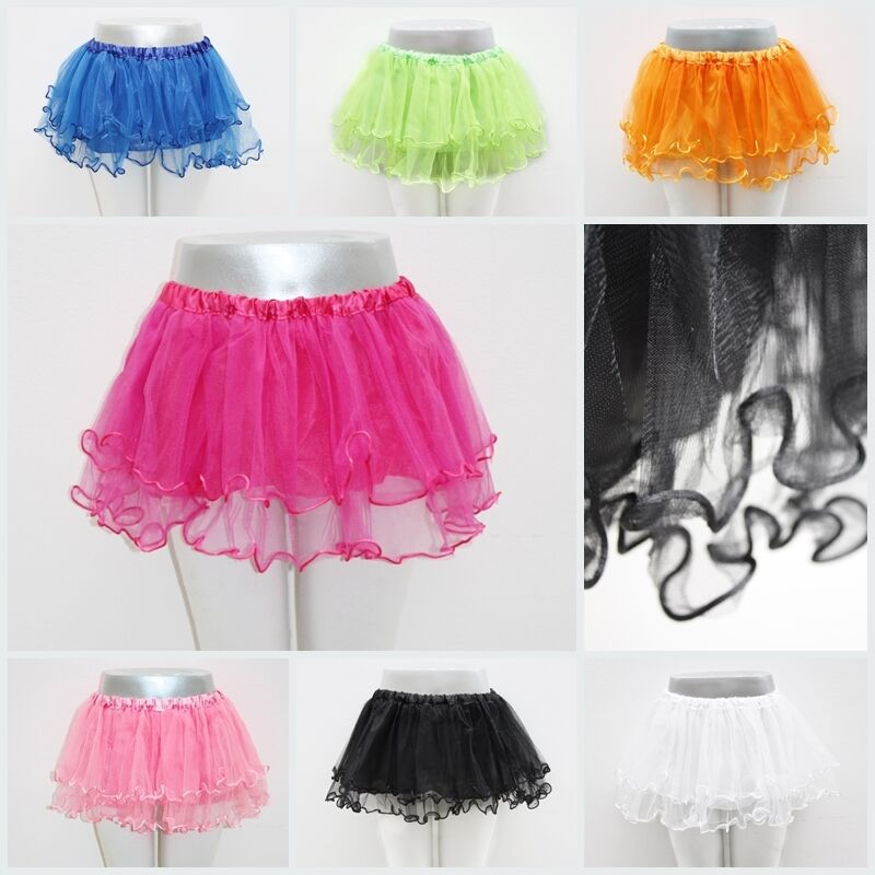 ! novedad! tütü tutu ballettrock tul falda para el ocio fiesta los niños monocromática 3-capas!