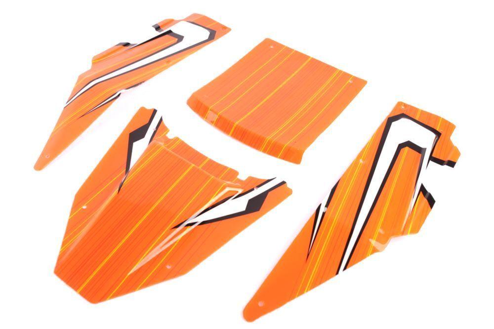 Los paneles de cuerpo Storm Nylon Roll Cage-Naranja 001 T1000 HPI 5T 5B King Motor 66090o