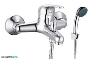 Vasca Da Bagno Traduzione Francese : Miscelatore per vasca da bagno in ottone cromato con doccetta e