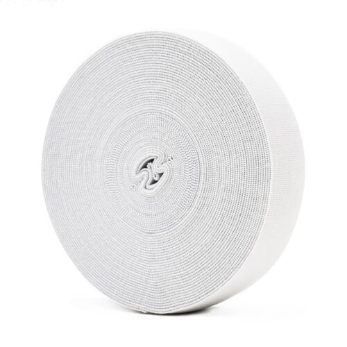Elastic Bands White 25mm Flat Cord Stretchy Clothing Sewing Skirt and Trousers