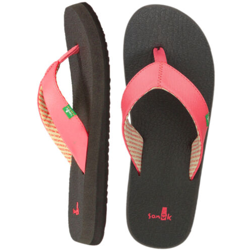 Sanuk señora yoga mat sws2908 señora sandalias-flip tira dedo una pifia zapatillas
