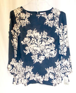 S Bi Navy Cream Floral Club color Nwt Top Charter COpw6