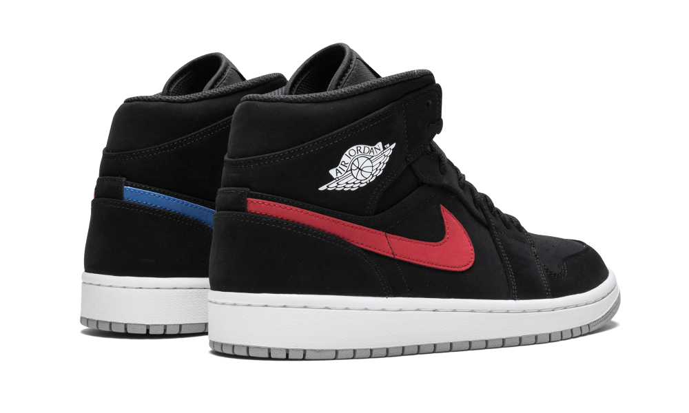 Nike Jordan 1 Swoosh Medio Negro Nubuck Air Rojo Azul Swoosh 1 Multi 554724065 ca07b3