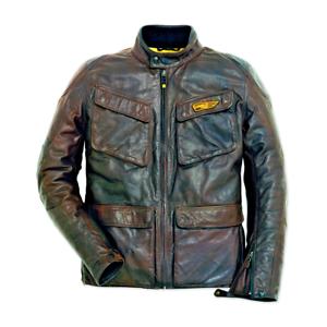 New-Dainese-Ducati-Quattrotasche-Leather-Jacket-Men-039-s-EU-50-Dark-Brown-981031250