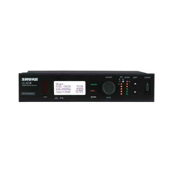 Shure ULXD4 (H50) Digital Wireless Microphone Receiver