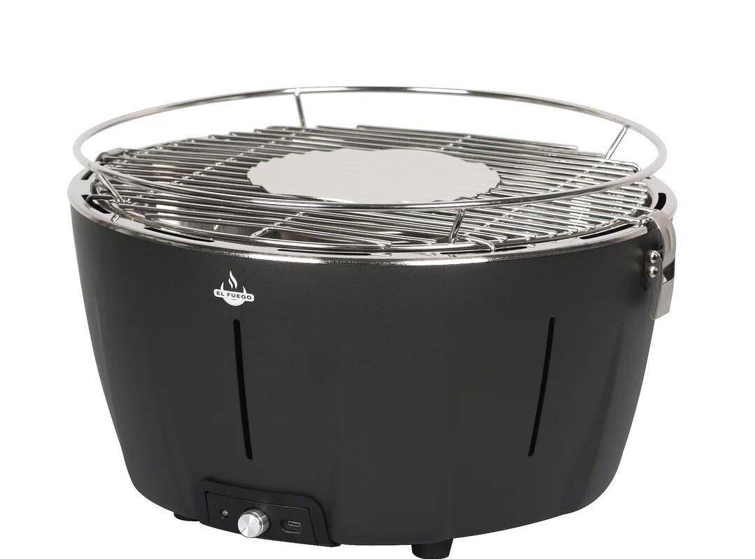 El Fuego Rauchfreier Holzkohlegrill Tulsa : El fuego holzkohlegrill tulsa moovita grillplate 3 tlg. silikon