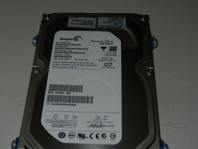 "Seagate Barracuda ST3250310AS 250Gb SATA 3.5"" Hard Drive"