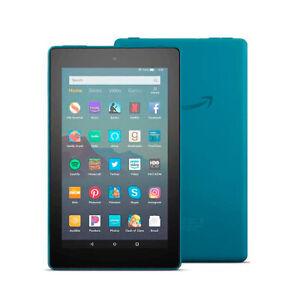 New Amazon Fire 7 Tablet (9th Generation) 16GB, Wi-Fi, 7in - Twilight Blue