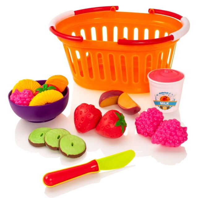 Milly Ted Fruit Pretend Play Basket Set Childrens Food For Kids