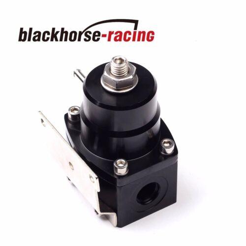 Universal Adjustable Fuel Pressure Regulator+100psi Gauge Kit 6AN Fitting End