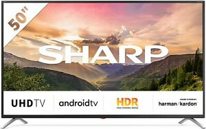 "SHARP SMART TV LED 50"" 4K UHD ANDROID TV WIFI HDR DVB-T2/S2 LC-50BL3EA NERO"