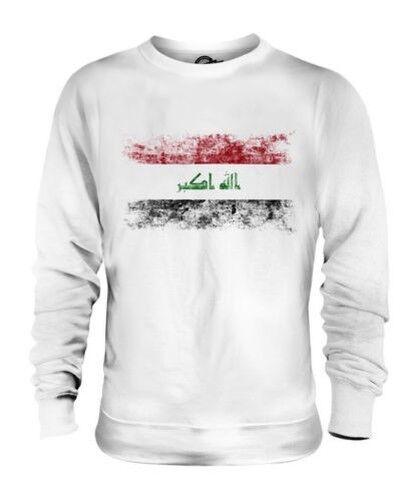 Irak Drapeau Délavé Unisexe Pull Al- ' Irak Irakien Irak T-Shirt Football