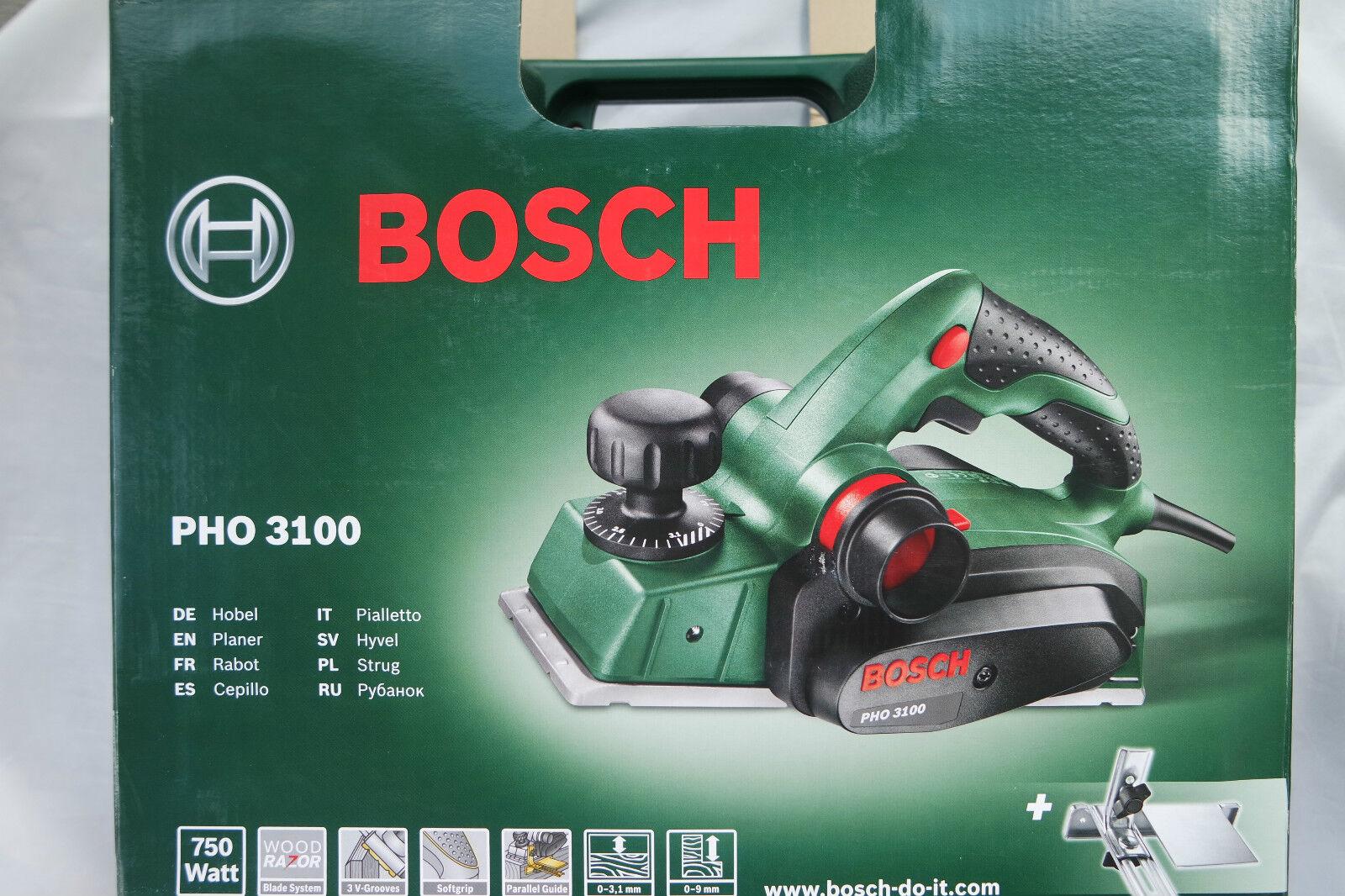 Bosch Elektrohobel PHO 3100 Hobel im Koffer 82mm