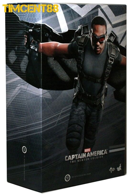 caliente giocattoli MMS245 Captain America Winter Soldier  Falcon Anthony Mackie 1 6 cifra