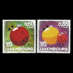 Luxembourg-2013-Christmas-Ornaments-Sc-B486-7-MNH