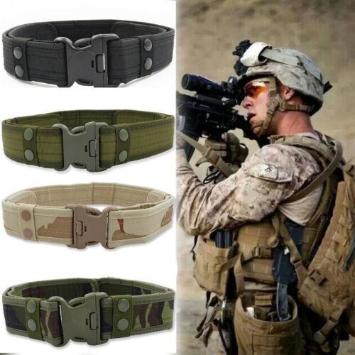 Men/'s Adjustable Military Tactical Belt Heavy Duty Combat Waistband Supply