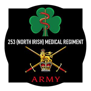 MEDICAL REGIMENT BADGE NORTH IRISH BRITISH ARMY 253