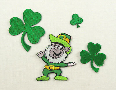 LEPRECHAUN  Embroidered Iron On Sew On Patch Irish Folklore