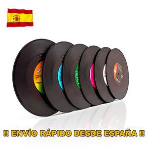 Set 6 Posavasos de Vinilo Retro.Vinyl Coasters.Estera para bebidas forma disco - España - Set 6 Posavasos de Vinilo Retro.Vinyl Coasters.Estera para bebidas forma disco - España