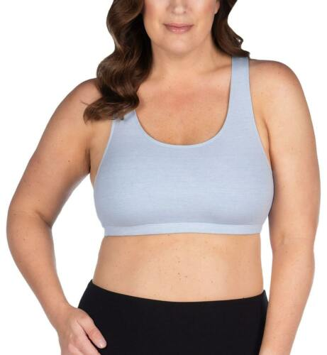 514 Leading Lady Serena Wirefree Racerback Sports Bra Serenity Blue