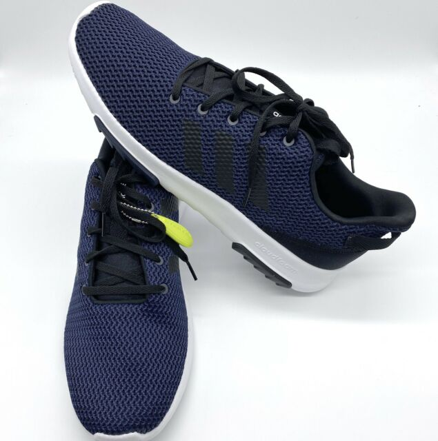 New Adidas Mens CF Racer TR Sport Sneakers Size 12 CloudFoam Navy Blue/ White