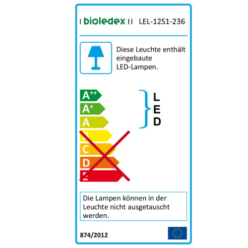 Bioledex goleaf e2 DEL Lampe Plantes Bande 120 cm 50 W ip44 Culture Grow