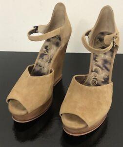 3743fb7abc1c81 Sam Edelman Javi Wedges Size 7.5 Suede Leather Sandals Ankle Strap ...