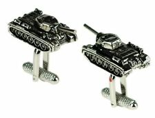 Tank Design Cufflinks in Gift Box Army Military - Onyx-Art London CK659