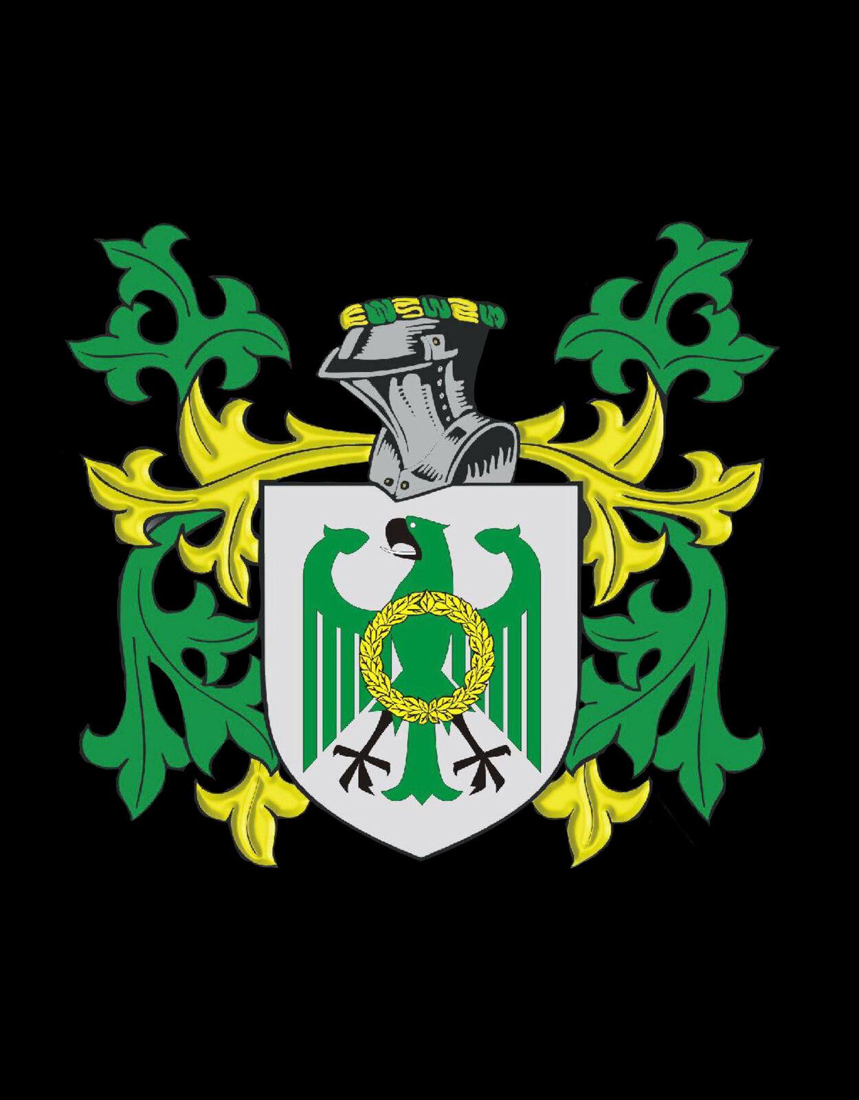 Creally Irlanda STEMMA DI FAMIGLIA cognome STEMMA Gemelli in oro oro oro incisi BOX 469424