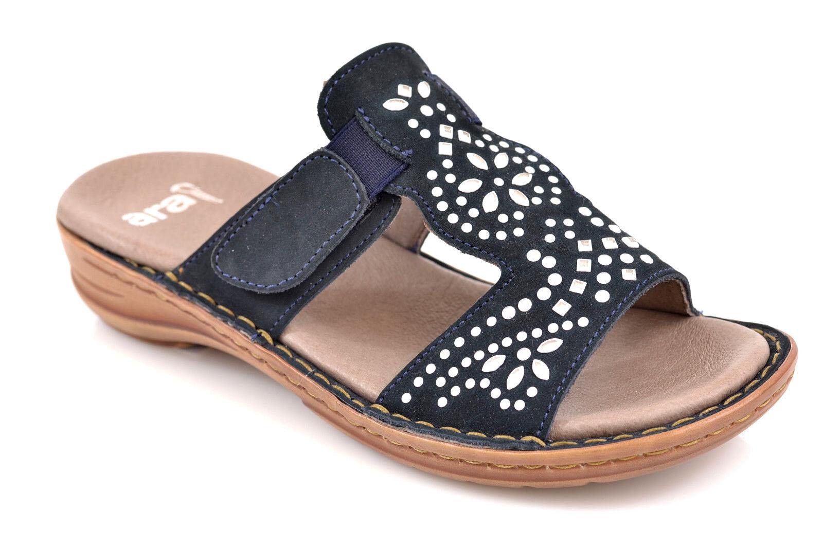 Pantolette Ara Hawaii Gr.37 Damen Pantolette Sandaleette blau  NEU ROTUZIERT