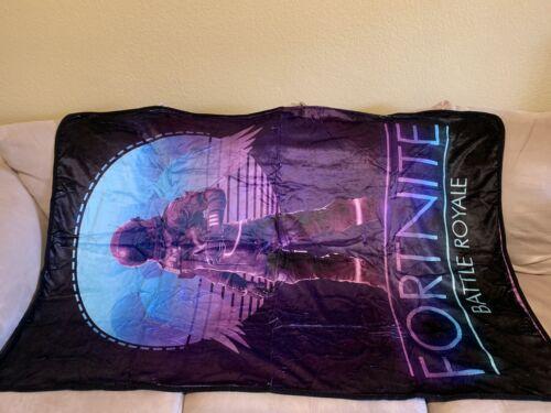 """New FORT NITE Dark Vanguard Battle Royale Velvet Plush Blanket 60/"""" x 40/"""""""