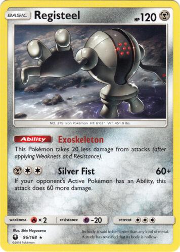 Celestial Storm Registeel #96 Rare Near Mint 4x Pokemon SM