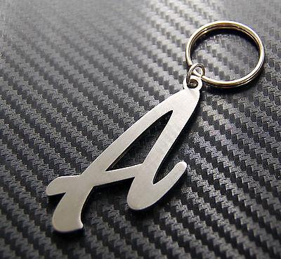 L Letter Alphabet Name Keyring Keychain Key Fob Bespoke Stainless Steel Gift