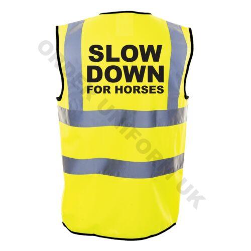 Rallenta per Cavalli Hi Viz Stampato EQUESTRIAN SAFETY WEAR Equitazione