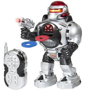BCP Kids Disc-Shooting RC Robot Toy w/ Walking, Talking, Dancing Actions, Lights