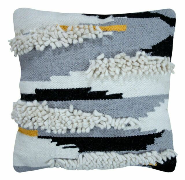 Hand Woven Decorative 100/% Cotton Throw Pillow Covers with Insert 18x18 Inches