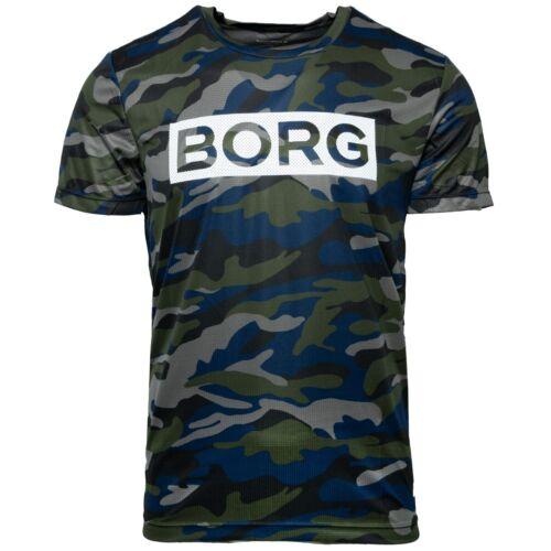 Björn Borg Tea Atos Short Sleeve Shirt Casual T-Shirt Camo 1931-1809 /_ 81251